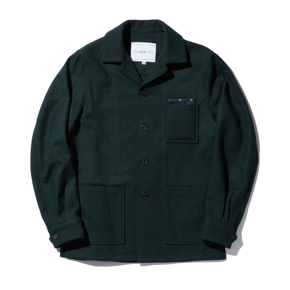 OVER CARDIGAN JACKET GREEN