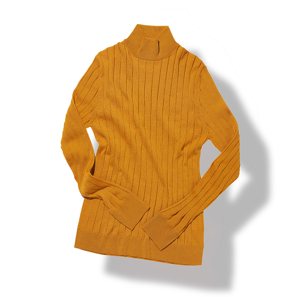 Ribbed Turtleneck - Mustard