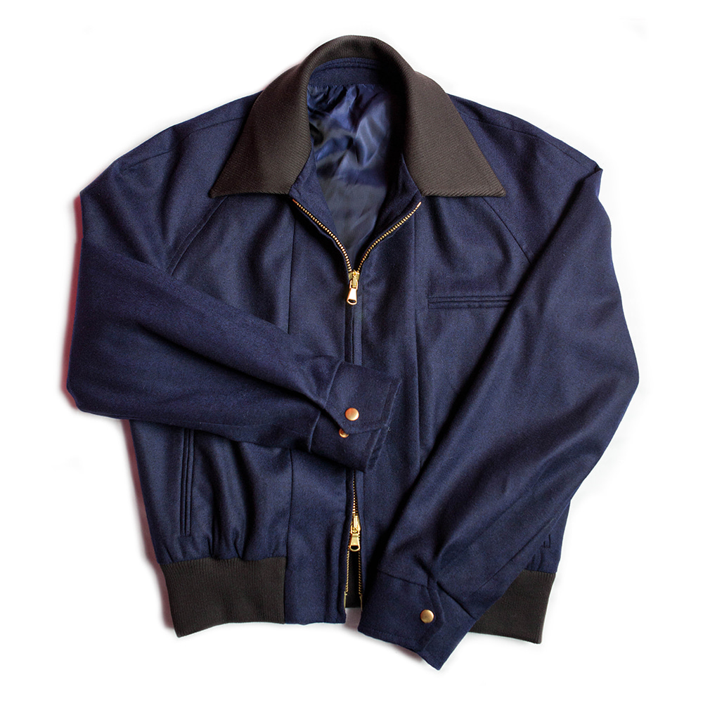 Crop Bomber Jacket (Navy color)