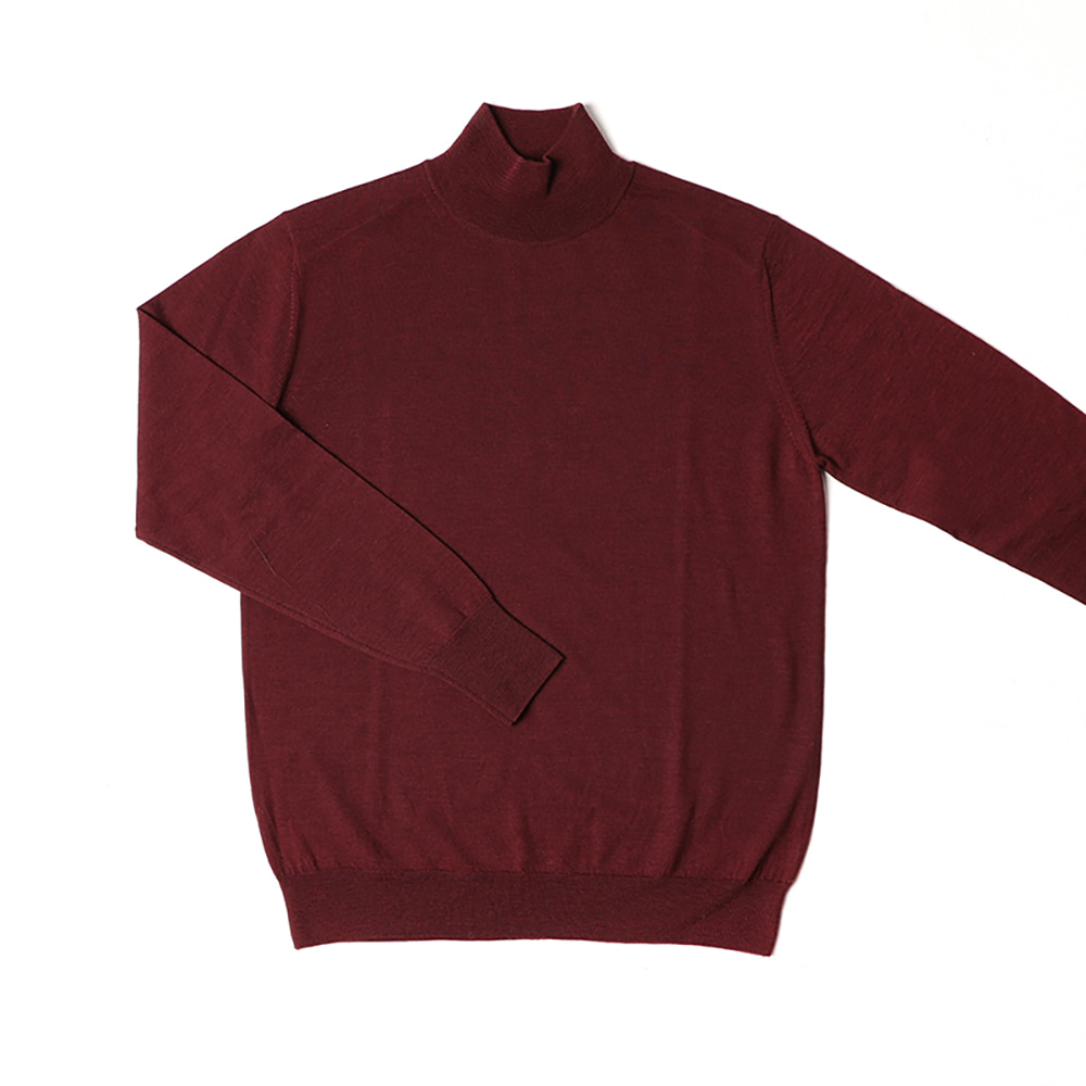 Half Turtleneck Sweater Burgundy