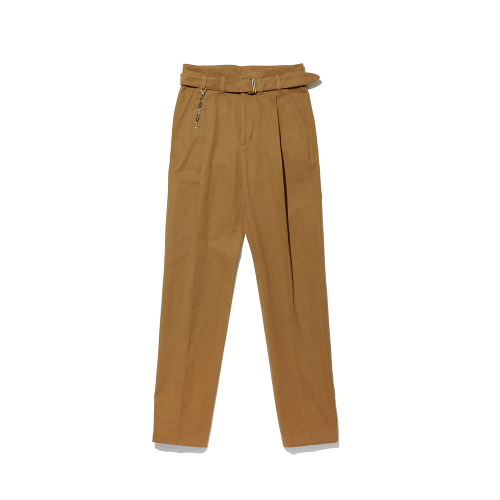 Cotton Trousers 'VENT' Light Brown