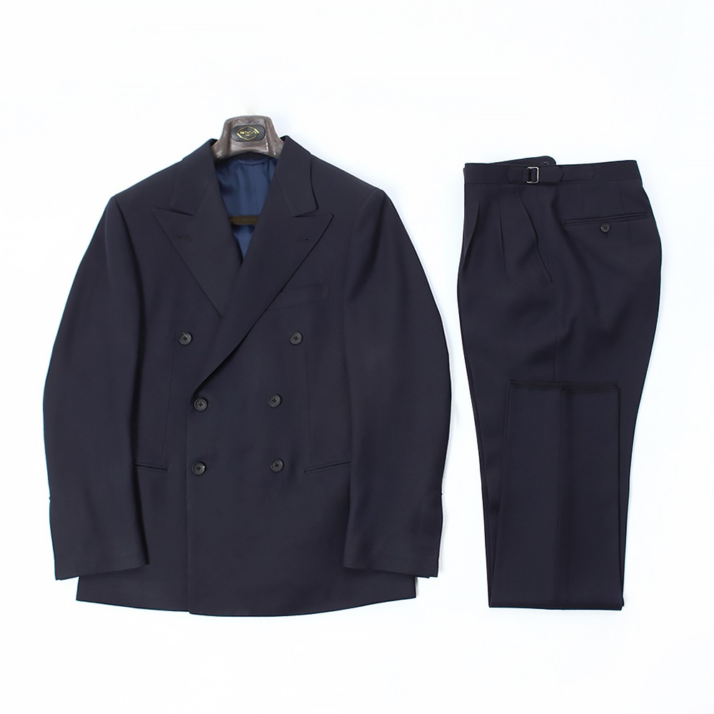 B&TAILOR Cavalry Twil Navy Double Suit