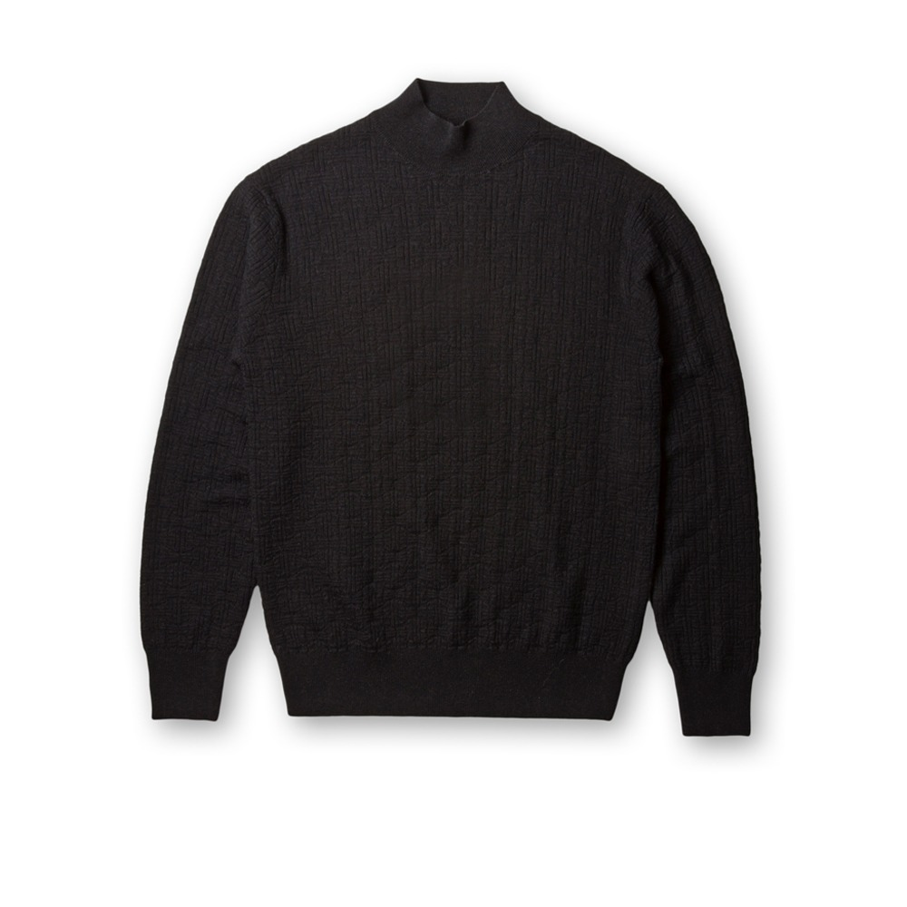 B&TAILOR RTW Super Extrafine Merinowool Mock neck Knit