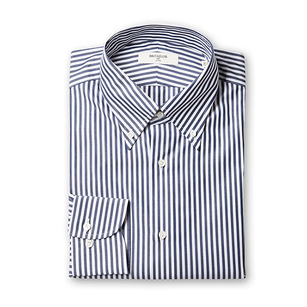 B&Tailor RTW Navy Stripe Shirt