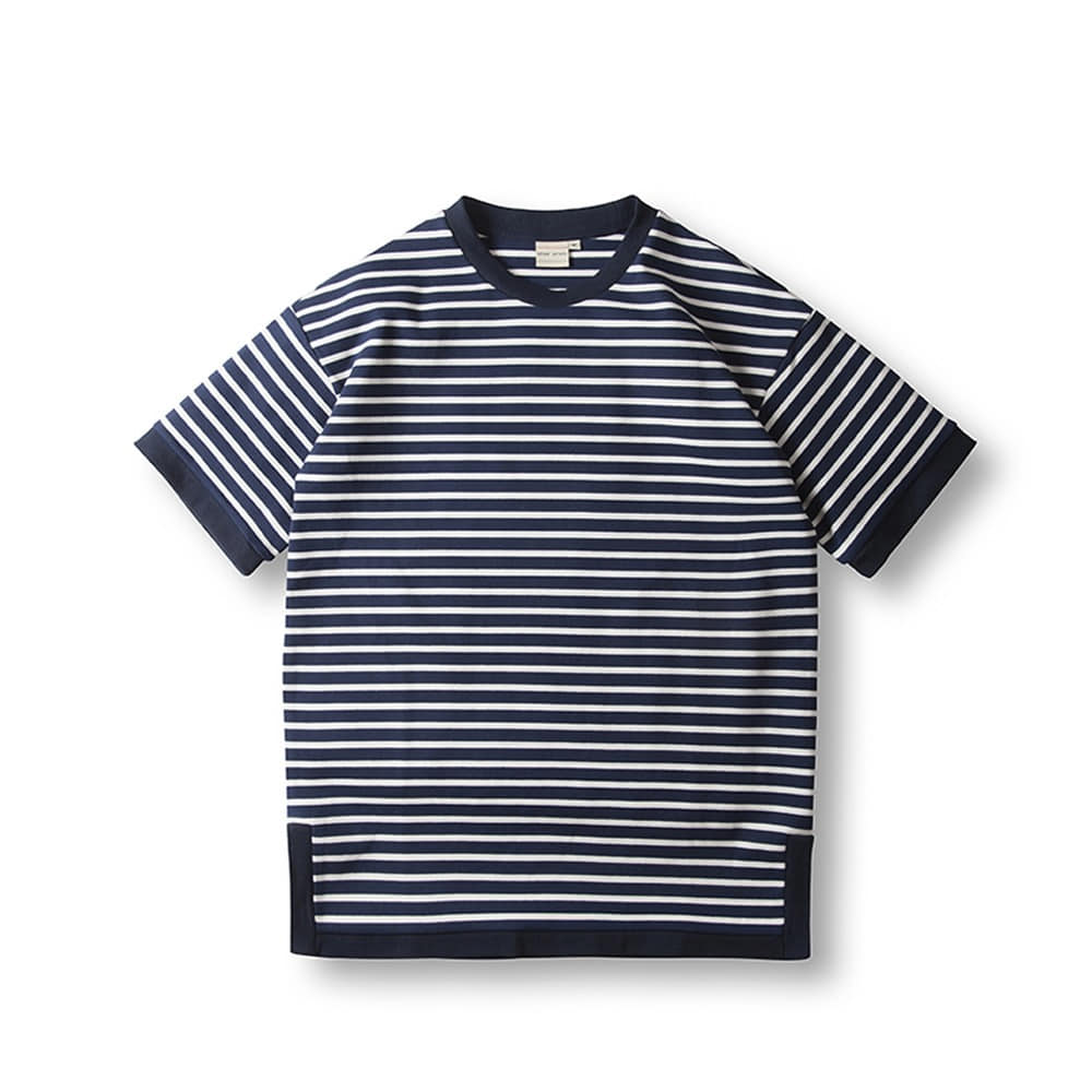 Marin Stripe T- Shirts - Navy