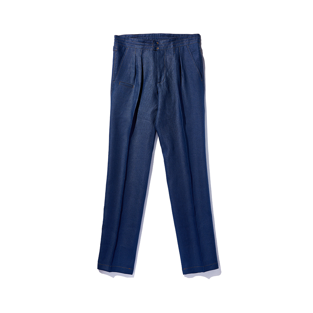 Ver.3 Chad Prom Linen Comfy Pants Navy Blue