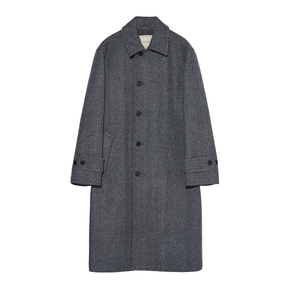 Heavy wool Single coat - Gray