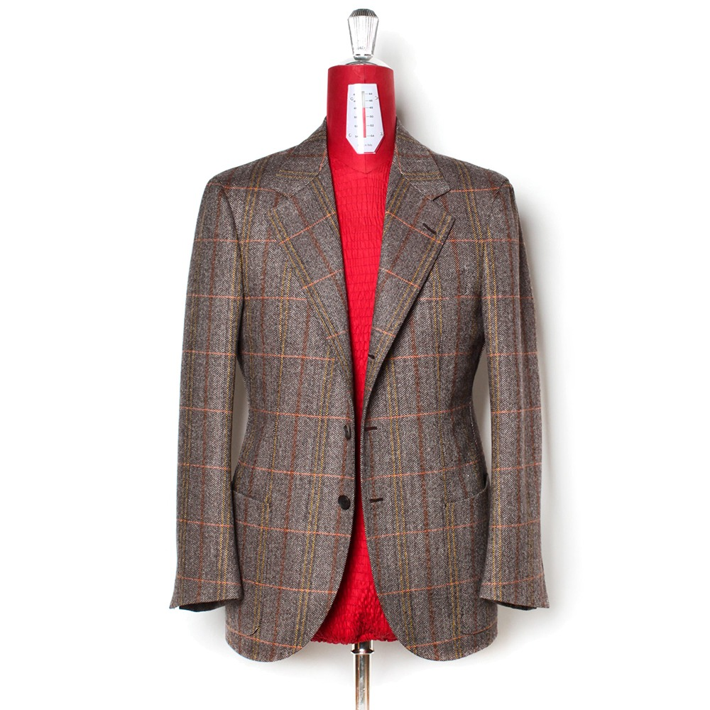B&TAILOR RTW Tweed Check Single Jacket
