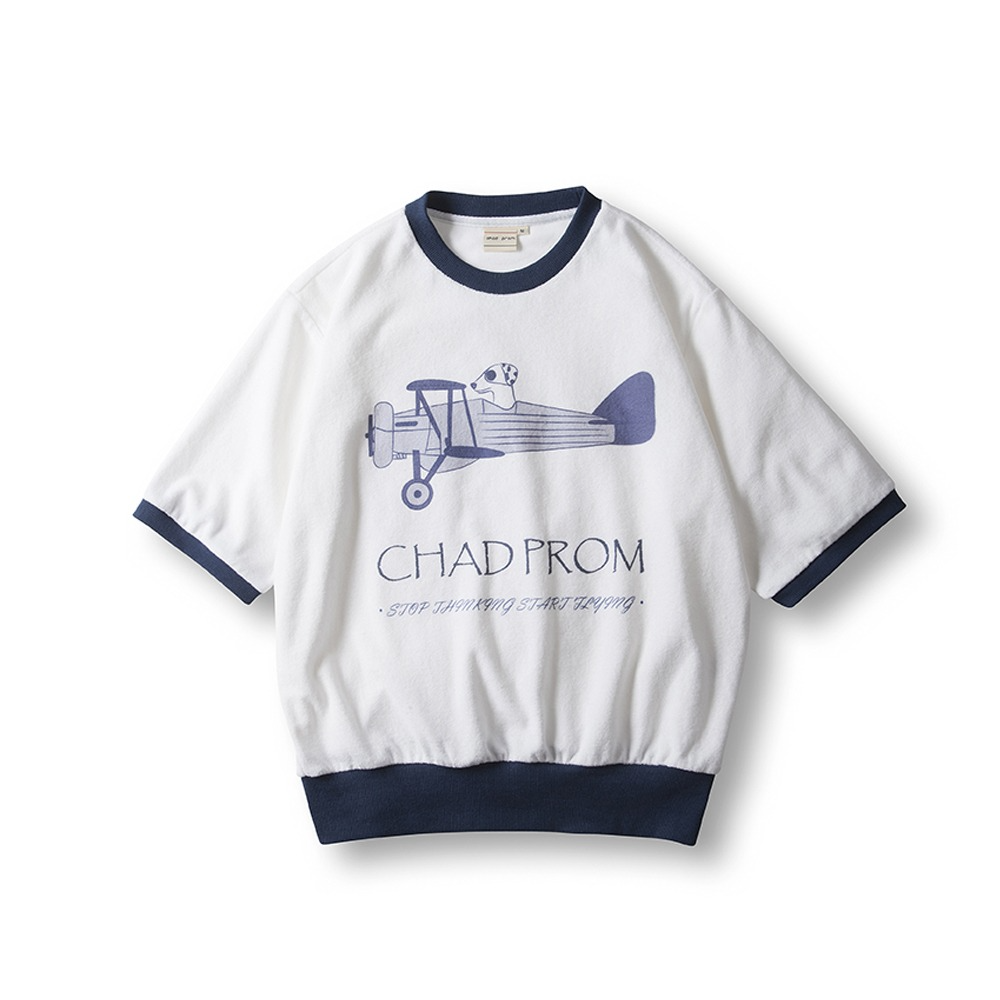 Terry Cotton T-Shirts- Navy